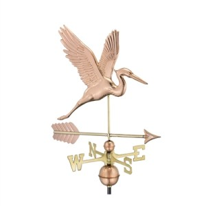Graceful Blue Heron with Arrow Weathervane-0