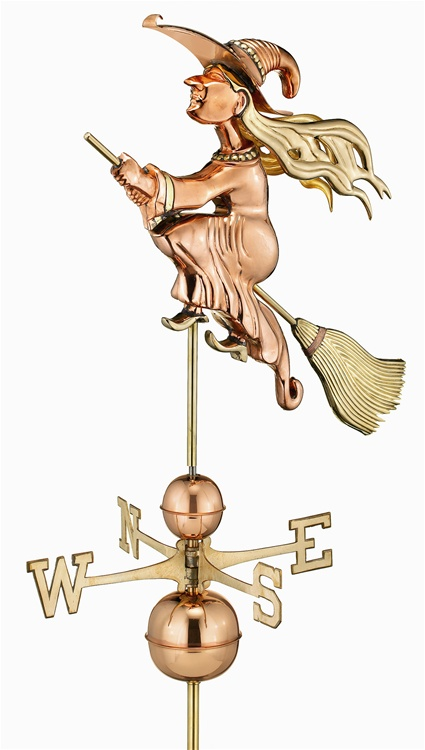 Large Witch Weathervane By Good Directions -0