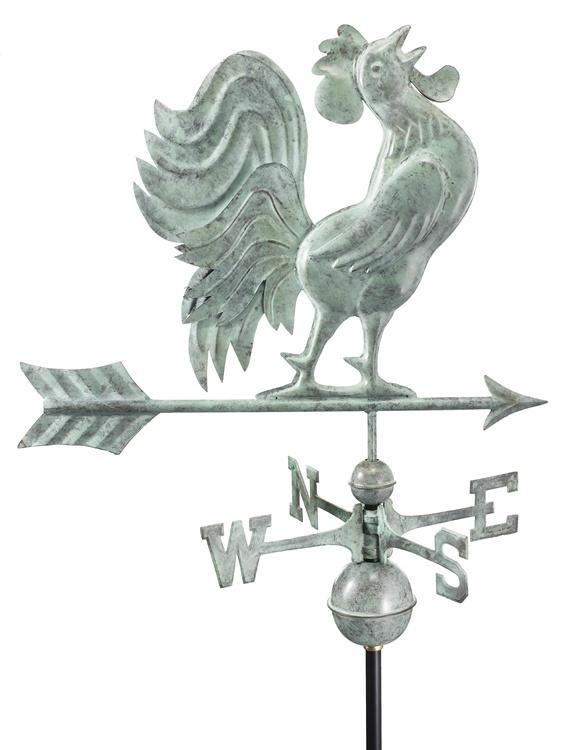 Rooster Crowing Weathervane-38