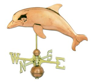 Dolphin Copper Weathervane-0