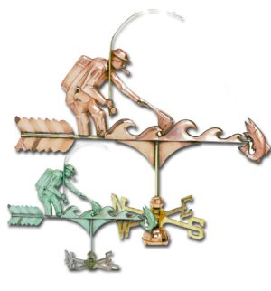 Fisherman Copper Weathervane-0