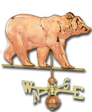 Bear Copper Weathervane-0