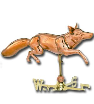 Fox 3-D Copper Weathervane-0