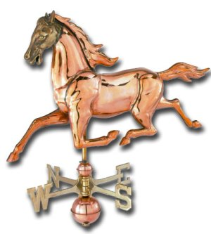 Medium Horse 3-D Copper Weathervane-0