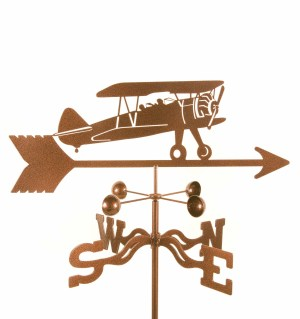 Bi-plane Airplane Weathervane