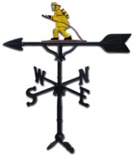 "32"" Fireman Aluminum Weather Vane-0"