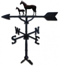 "Old Barn Rustic Co. 32"" Mare and Colt Steel Weather Vane-0"