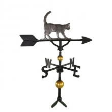 "Old Barn Rustic Co. 32"" Deluxe Cat Aluminum Weathervane -0"