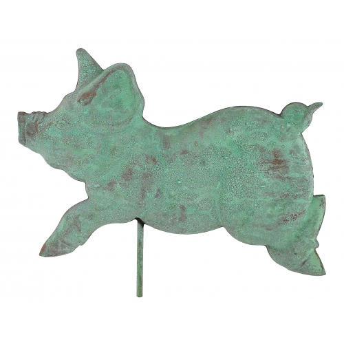 Romping Pig Copper Weathervane-3949