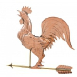 Crowing Rooster Copper Weathervane-0