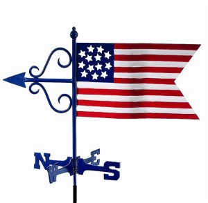 American Flag Weathervane-0
