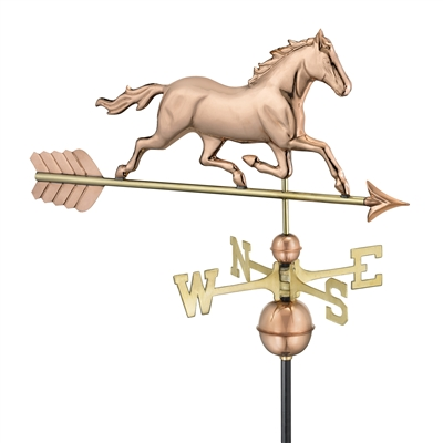 Trotting Horse Hand Crafted Copper Weathervane-0