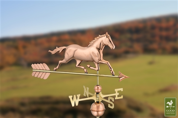 Trotting Horse Hand Crafted Copper Weathervane-4544