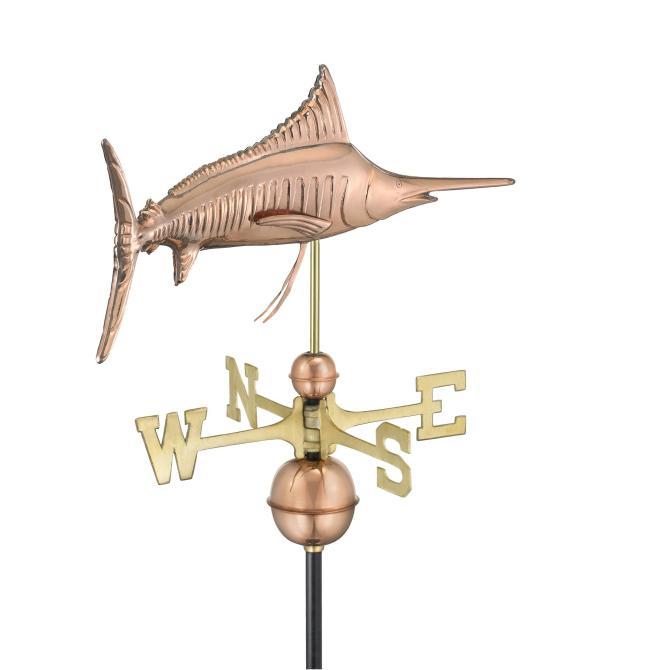 Marlin Outdoor Copper Weathervane -4530