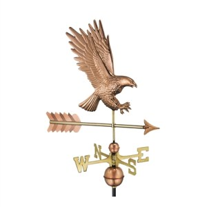 American Bald Eagle Weathervane Handcrafted From Pure Copper-0
