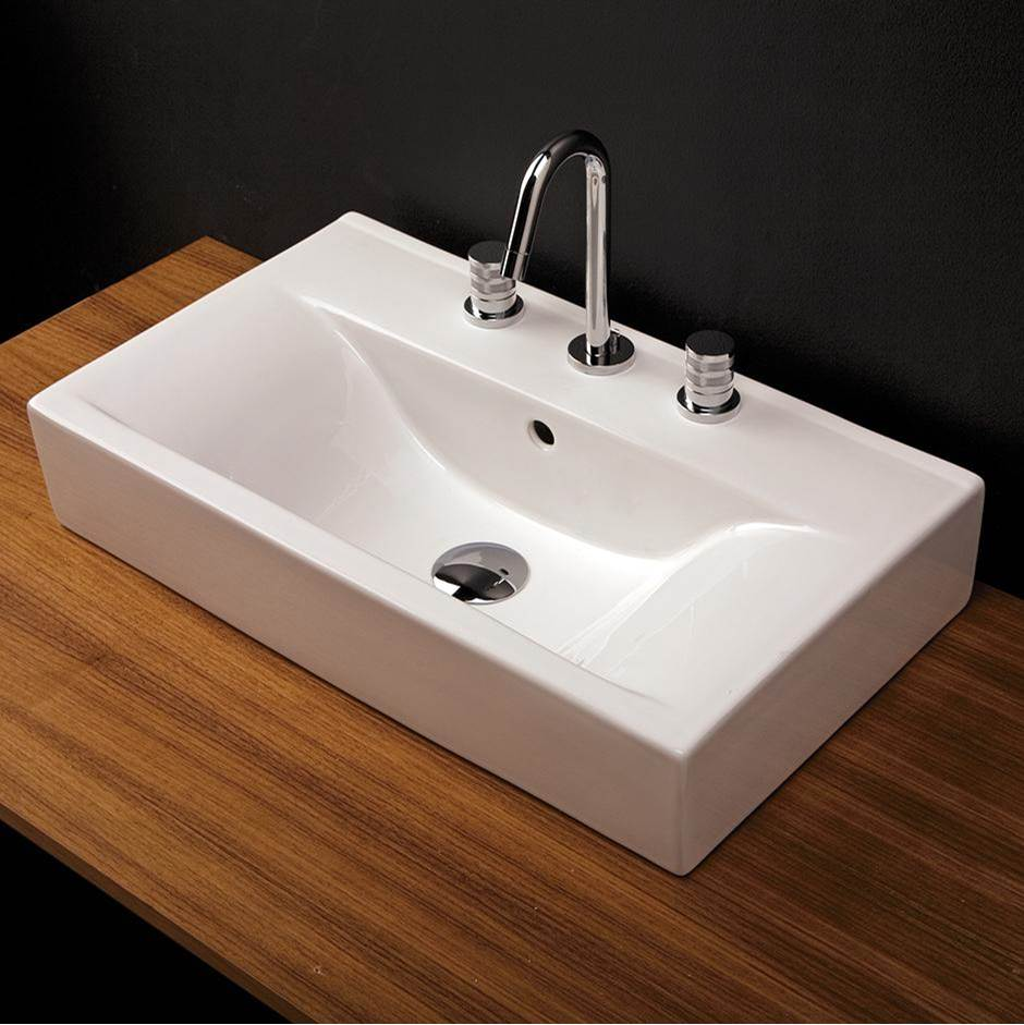 vanity top porcelain bathroom sink without an overflow 24 1 4 w