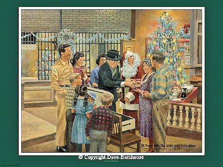 """A Mayberry Christmas"" Color Print"