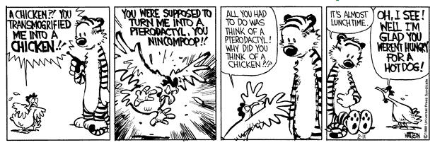 Image result for calvin and hobbes transmogrifier