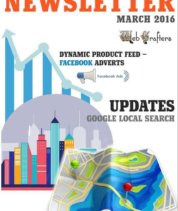 WebCrafters LLC SEO Newsletter March 2016