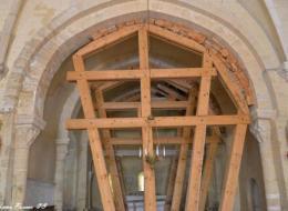 Église d'Authiou vue de l'intérieur Nièvre Passion