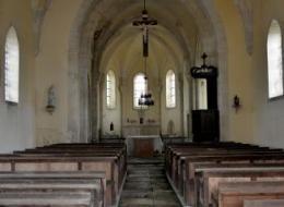 Intérieur de l'église de la Collancelle