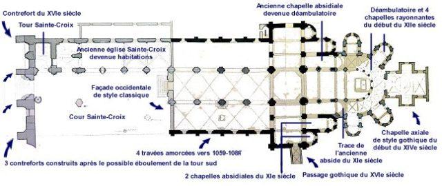 Plan de Notre Dame de la Charité sur Loire