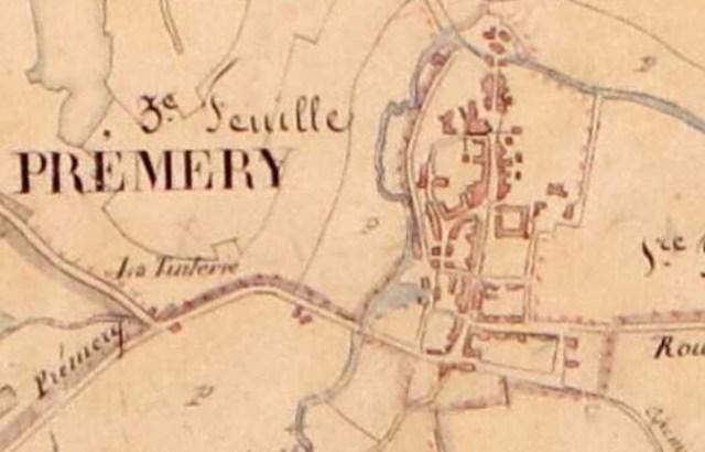 Cadastre ancien1840 AD Nièvre Prémery