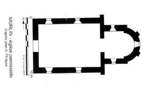 Plan de l'église de Murlin