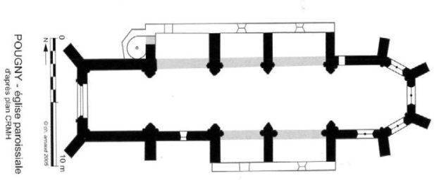Plan église de Pougny