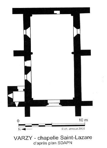Plan église de la chapelle Saint-Lazare