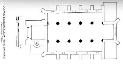 Plan de l'église Corvol-l'Orgueilleux