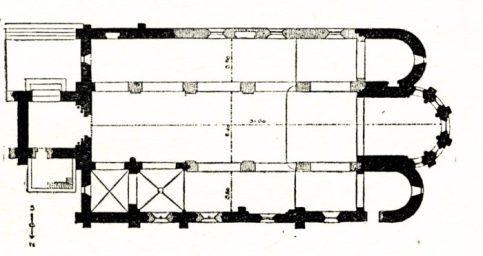 Plan de l'église Saint-Aignan Cosne