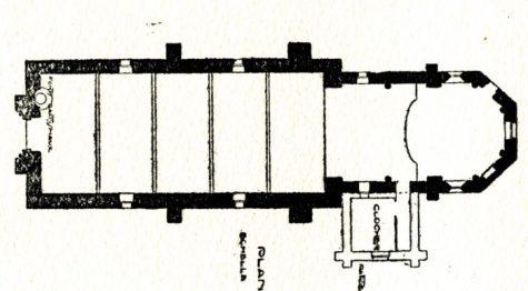 Plan de l'église de Balleray