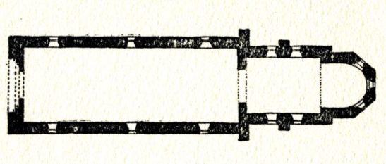 Plan de l'église de Garchy