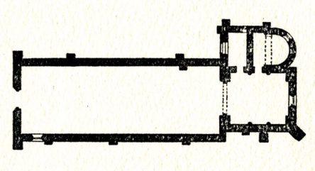 Plan de l'église de Sauvigny les Bois