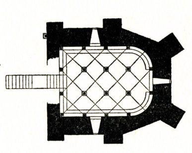 Plan de la Crypte de l'église de Saint Parize
