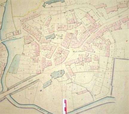 Plan des fortifications de la ville de Luzy