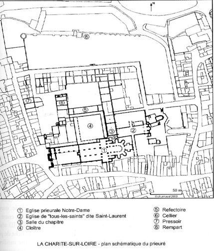 Plan du Prieuré de La Charité Sur Loire