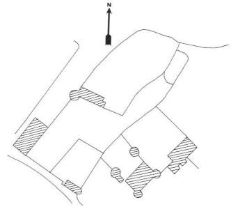 Plan du château de Verneuil