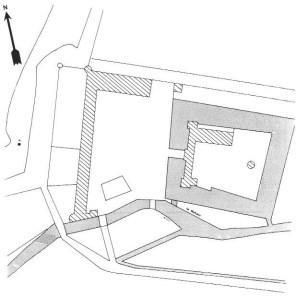 Plan du château des Granges de Suilly La Tour