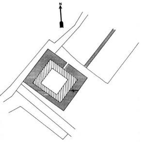Plan du château du Sauzay