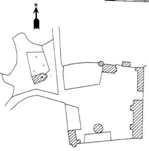 Plan du site du château de Changy