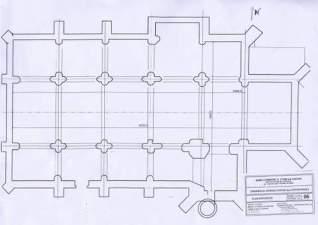 Plan de l'église d'étais la Sauvin