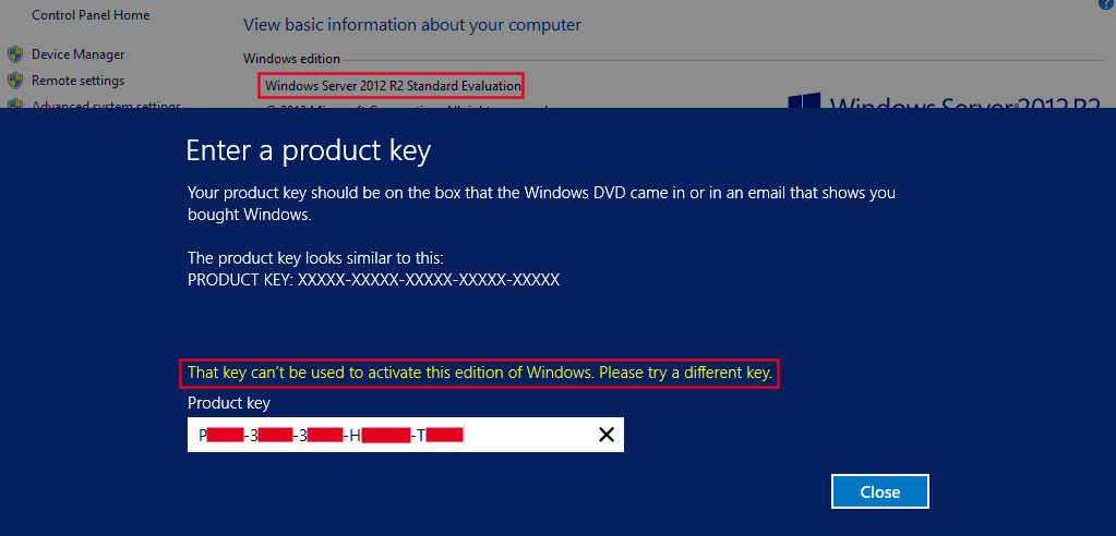 view product key server 2012