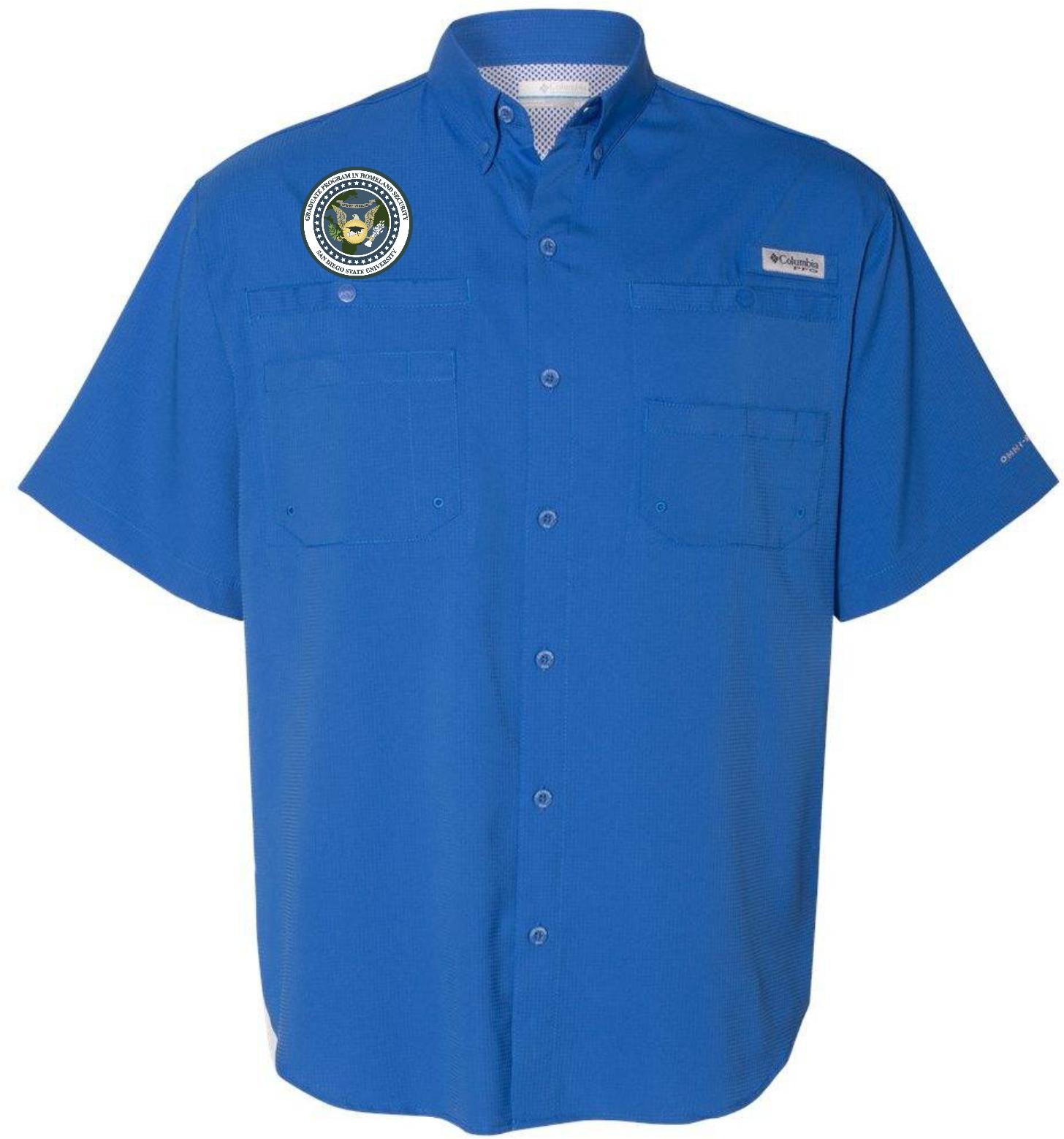 SDSU HSEC Columbia Mens Short Sleeve Button Down