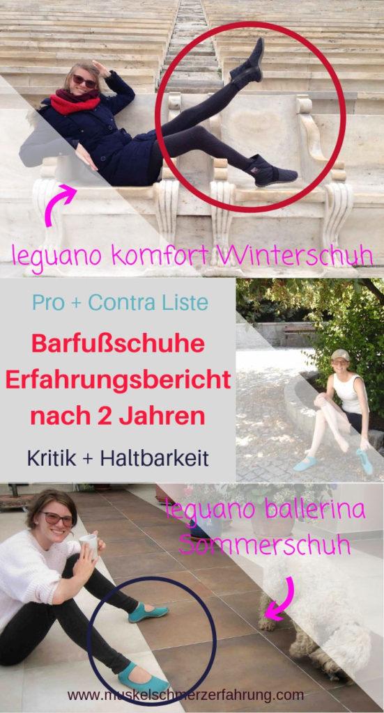 Barfußschuhe Erfahrungsbericht nach 2 Jahren Pro Contra Liste Kritik Haltbarkeit leguano ballerina leguano komfort