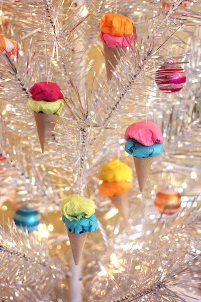 25 increibles  adornos de navidad hechos a mano - adornos de cono de helado