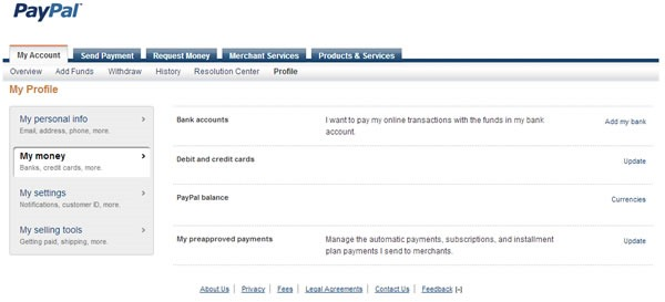 como configurar cambio de divisas en paypal profile