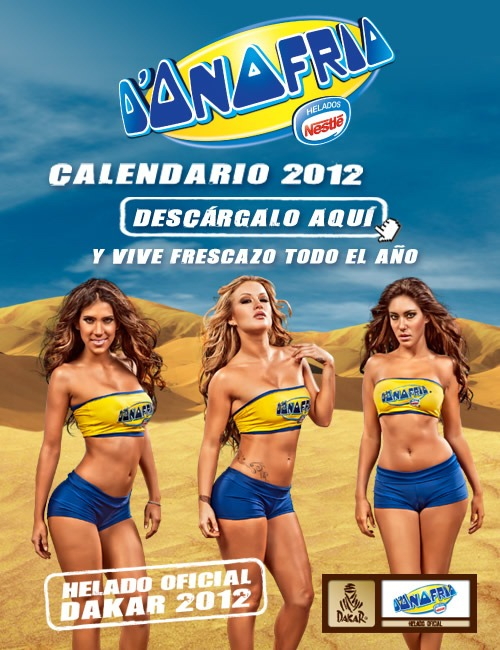 donofrio-dakar-calendario-2012-leslie-shaw-vanessa-tello-tilsa-lozano-portada