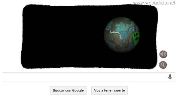google doodle halloween 2013 calavera y manzana